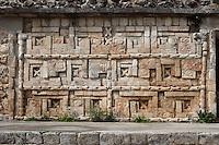 Frieze with Quetzal birds, The Grand Pyramid or Great Temple, commonly the Great pyramid, 8th century, reconstructed 1972-3, Puuc architecture, Uxmal late classical Mayan site, flourished between 600-900 AD, Yucatan, Mexico. Picture by Manuel Cohen