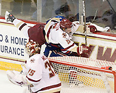 Philip Samuelsson (BC - 5), Michael Scheu (Lowell - 20) - The Boston College Eagles defeated the visiting University of Massachusetts-Lowell River Hawks 5-3 (EN) on Saturday, January 22, 2011, at Conte Forum in Chestnut Hill, Massachusetts.