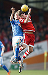 Aberdeen v St Johnstone...03.10.15   SPFL   Pittodrie, Aberdeen<br /> Murray Davidson and Kenny McLean<br /> Picture by Graeme Hart.<br /> Copyright Perthshire Picture Agency<br /> Tel: 01738 623350  Mobile: 07990 594431