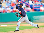 6 March 2011: Atlanta Braves' pitcher Arodys Vizcaino on the mound during a Spring Training game against the Washington Nationals at Space Coast Stadium in Viera, Florida. The Braves shut out the Nationals 5-0 in Grapefruit League action. Mandatory Credit: Ed Wolfstein Photo