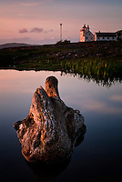 Landscape at Tungenes with the old lighthouse in the background, Rogaland, Norway.