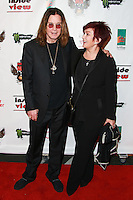 LOS ANGELES, CA, USA - OCTOBER 26: Ozzy Osbourne, Sharon Osbourne arrive at An Evening Of Art With Billy Morrison And Joey Feldman Benefiting The Rock Against MS Foundation held at Village Studios on October 26, 2014 in Los Angeles, California. (Photo by David Acosta/Celebrity Monitor)