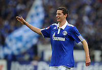 FUSSBALL   1. BUNDESLIGA   SAISON 2011/2012    11. SPIELTAG FC Schalke 04 - 1899 Hoffenheim                            29.10.2011 Julian DRAXLER (Schalke) freut sich nach dem 1:0