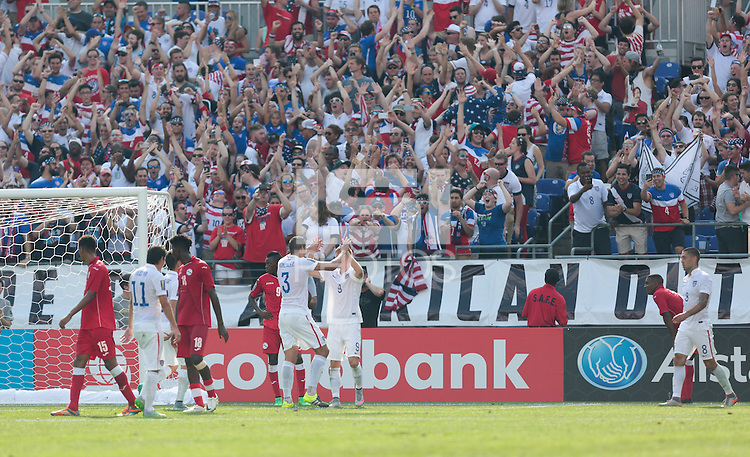 Baltimore, Maryland - Saturday, July 18, 2015: The US Men's National team go up 4-0 over Cuba during quarter final play in the 2015 Gold Cup at M&T Bank Stadium.