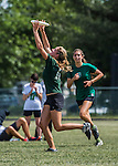 4 June 2016: Montpelier High School plays BFA Fairfax High in the Girls Finals of the VYUL State Ultimate Disk Championships at Bombardier Park in Milton, Vermont. BFA defeated Montpelier 15-4 to win the 2016 Girls State Championship. Mandatory Credit: Ed Wolfstein Photo *** RAW (NEF) Image File Available ***