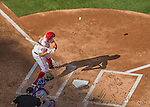 6 April 2015: Washington Nationals first baseman Ryan Zimmerman at bat  in the first inning of the Home Opening Game against the New York Mets at Nationals Park in Washington, DC. The Mets rallied to defeat the Nationals 3-1 in their first meeting of the 2015 MLB season. Mandatory Credit: Ed Wolfstein Photo *** RAW (NEF) Image File Available ***