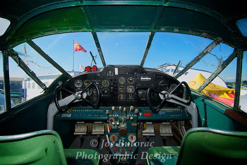 Beechcraft 3MNT Expeditor Cockpit  Canadian Museum of Flight Langley B.C. CYNJ