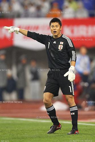 Eiji Kawashima (JPN), June 1st, 2011 - Football : KIRIN Cup Soccer 2011 match between Japan 0-0 Peru at Tohoku Denryoku Big Swan Stadium, Niigata, Japan. (Photo by Daiju Kitamura/AFLO SPORT) [1045].
