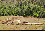 Tyuonyi Ruins, Anasazi Ancestral Puebloan Village, Bandelier National Monument, Frijoles Canyon, Pajarito Plateau, Los Alamos, New Mexico