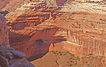 The Mummy Cave down on the floor of Canyon de Chelly as seen from the North Rim Trail