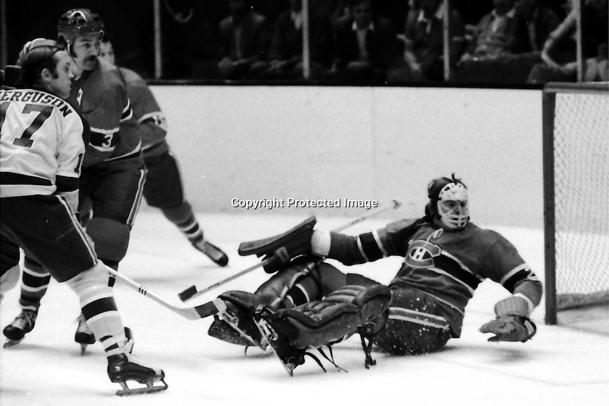 California Golden Seals vs. Montreal Canadiens action.<br />