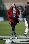 04 December 2009: Stanford's Kira Maker. The Stanford University Cardinal defeated the University of California Los Angeles Bruins 2-1 in sudden victory overtime at the Aggie Soccer Complex in College Station, Texas in an NCAA Division I Women's College Cup Semifinal game.