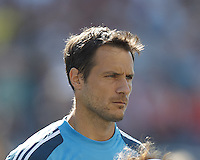 LA Galaxy goalkeeper Carlo Cudicini (1). In a Major League Soccer (MLS) match, the New England Revolution (blue) defeated LA Galaxy (white), 5-0, at Gillette Stadium on June 2, 2013.