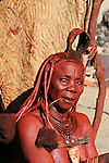 Africa, Namibia, Kunene. A woman of the Himba Tribe in Namibia.