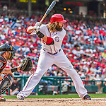 30 August 2015: Washington Nationals outfielder Jayson Werth in action against the Miami Marlins at Nationals Park in Washington, DC. The Nationals rallied to defeat the Marlins 7-4 in the third game of their 3-game weekend series. Mandatory Credit: Ed Wolfstein Photo *** RAW (NEF) Image File Available ***