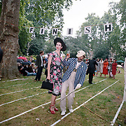 """Chaps - Retro socializing in London. 2009. The Chap Olympiad 2009. The Chap Olympiad is an annual event held in central London by the Chap magazine, it allows assorted retro socialisers a place to gather for a day. """"Atters"""" the official Chap magazine mascot and Fleur de Guerre. ."""
