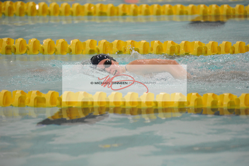 Eagle River's Emily Berard swims the 200 IM at Bartlett High School Friday, Sept. 23, 2016.  Photo for the Star by Michael Dinneen