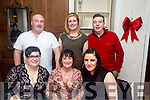 Pictured Kristine Sasko,  Kate Allen, Marie Dennehy, Back Kevin O'Connor, Eileen McKenna and Mike Crean enjoying the new year at Denny Lane on Saturday