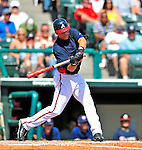12 March 2009: Atlanta Braves' outfielder Gorkys Hernandez in action during a Spring Training game against the Washington Nationals at Disney's Wide World of Sports in Orlando, Florida. The Braves defeated the Nationals 6-2 in the Grapefruit League matchup. Mandatory Photo Credit: Ed Wolfstein Photo