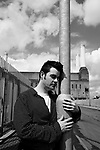 Gejo posing as Morrissey, Battersea power station, London, May 2007