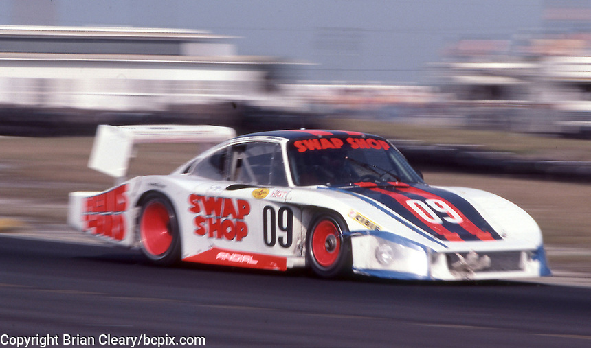 The #09 Henn's Swap Shop Racing Porche 935 of John Paul Jr., Derek Bell, and Michael Andretti races to a 56th place finish at  the 12 Hours of Sebring endurance sports car race, March 19, 1983.  (Photo by Brian Cleary/www.bcpix.com)