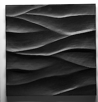 Giovanni Barbieri 24x24 inch Boreal carved tile in Dark Grey.