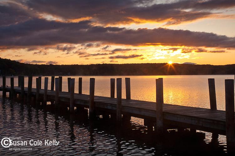 Sunrise on Lake Winnipesaukee, Meredith, NH, USA
