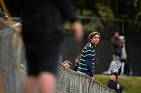 Fans in the terraces during the Oceania Football Championship final (second leg) football match between Team Wellington and Auckland City FC at David Farrington Park in Wellington, New Zealand on Sunday, 7 May 2017. Photo: Dave Lintott / lintottphoto.co.nz