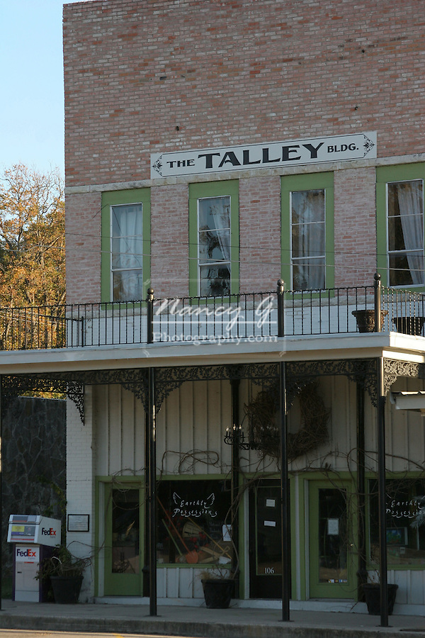 The Talley Building in dowtown center of Glen Rose Texas with a store tenant