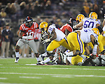 Ole Miss vs. LSU running back Spencer Ware (11)  at Vaught-Hemingway Stadium in Oxford, Miss. on Saturday, November 19, 2011. LSU won 52-3.