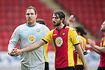 St Johnstone v Partick Thistle&hellip;29.10.16..  McDiarmid Park   SPFL<br />Thorston Stuckmann and Adam Barton<br />Picture by Graeme Hart.<br />Copyright Perthshire Picture Agency<br />Tel: 01738 623350  Mobile: 07990 594431