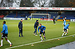 Ross County v St Johnstone...05.12.15  SPFL  Dingwall<br /> David Wotherspoon during the warm-up at a very wet Victoria Park this afternoon<br /> Picture by Graeme Hart.<br /> Copyright Perthshire Picture Agency<br /> Tel: 01738 623350  Mobile: 07990 594431
