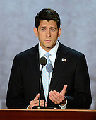 United States Representative Paul Ryan (Republican of Wisconsin), the GOP nominee for Vice President of the United States, makes remarks at the 2012 Republican National Convention in Tampa Bay, Florida on Wednesday, August 29, 2012.  .Credit: Ron Sachs / CNP.(RESTRICTION: NO New York or New Jersey Newspapers or newspapers within a 75 mile radius of New York City)