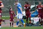 St Johnstone v Motherwell&hellip;20.02.16   SPFL   McDiarmid Park, Perth<br />Louis Moult celebrates his goal<br />Picture by Graeme Hart.<br />Copyright Perthshire Picture Agency<br />Tel: 01738 623350  Mobile: 07990 594431