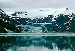 Alaska: Glacier Bay National Park, John Hopkin Glacier as seen from a cruise ship.  Photo akglac101..Photo copyright Lee Foster, 510/549-2202,  lee@fostertravel.com, www.fostertravel.com