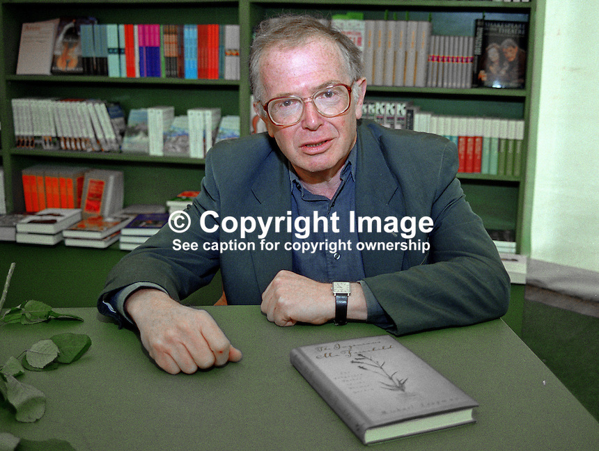 Michael Leapman, journalist, author, in the Festival Bookshop, Hay International Book Festival, Hay-on-Wye, Wales, UK, 200005263.<br /> <br /> Copyright Image from Victor Patterson,<br /> 54 Dorchester Park, Belfast, UK, BT9 6RJ<br /> <br /> t1: +44 28 90661296<br /> t2: +44 28 90022446<br /> m: +44 7802 353836<br /> <br /> e1: victorpatterson@me.com<br /> e2: victorpatterson@gmail.com<br /> <br /> For my Terms and Conditions of Use go to<br /> www.victorpatterson.com