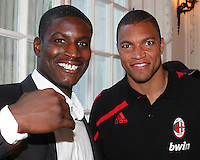 Bill Hamid of DC United with Dida of AC Milan at a reception for AC Milan at DAR Constitution Hall in Washington DC on May 24 2010.