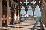 View of the San Giorgi Maggiore Island from the balconies of the Doge's Palace in Venice, Italy