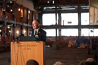 Mayor Bloomberg breaks Ground on Queens Museum of Art in Flushing Meadows, Queens