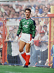 David Seaman makes his debut for Arsenal. Wimbledon v Arsenal, 25/8/90. Credit: Colorsport.