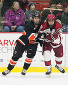 Aaron Ave (Princeton - 28), Luke Esposito (Harvard - 9) - The Harvard University Crimson defeated the Princeton University Tigers 3-2 on Friday, January 31, 2014, at the Bright-Landry Hockey Center in Cambridge, Massachusetts.