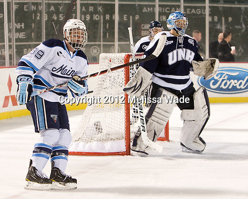 Joey Diamond (Maine - 39), Casey DeSmith (UNH - 29) - The University of Maine Black Bears defeated the University of New Hampshire Wildcats 5-4 in overtime on Saturday, January 7, 2012, at Fenway Park in Boston, Massachusetts.