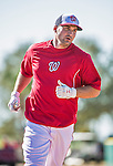 9 March 2014: Washington Nationals third baseman Ryan Zimmerman runs bases prior to a Spring Training game against the St. Louis Cardinals at Space Coast Stadium in Viera, Florida. The Nationals defeated the Cardinals 11-1 in Grapefruit League play. Mandatory Credit: Ed Wolfstein Photo *** RAW (NEF) Image File Available ***