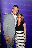PASADENA - APR 18:  Curtis Stone, Cat Cora arrives at the NBCUniversal Summer Press Day at The Langham Huntington Hotel on April 18, 2012 in Pasadena, CA