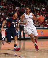 STANFORD, CA - JANUARY 16, 2015--<br /> Stanford&rsquo;s Amber Orrange, during the Arizona game at Maple Pavilion.