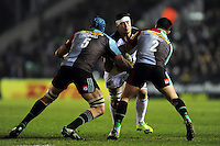 Francois Louw of Bath Rugby takes on the Harlequins defence. Aviva Premiership match, between Harlequins and Bath Rugby on March 11, 2016 at the Twickenham Stoop in London, England. Photo by: Patrick Khachfe / Onside Images