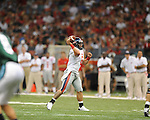 Ole Miss quarterback Jeremiah Masoli (8) passes at the Louisiana Superdome in New Orleans, La. on Saturday, September 11, 2010. Ole Miss won 27-13.