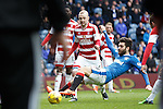 Jon Toral fouled by Grant Gillespie for a penalty kick