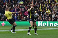 Photographer Rachel Holborn/CameraSport<br /> <br /> European Rugby Champions Cup Final - Clermont Auvergne v Saracens - Saturday 13th May 2017 - BT Murrayfield, Edinburgh<br /> <br /> World Copyright &copy; 2017 CameraSport. All rights reserved. 43 Linden Ave. Countesthorpe. Leicester. England. LE8 5PG - Tel: +44 (0) 116 277 4147 - admin@camerasport.com - www.camerasport.com