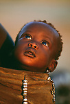 Karo tribe baby, Murle region, Ethiopia